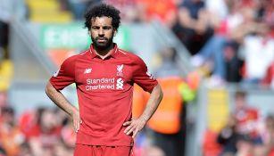 Mohamed Salah en un juego con Liverpool