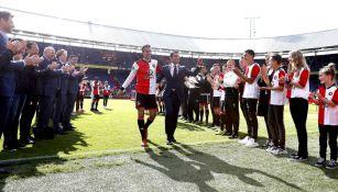 Robin van Persie durante el partido de despedida con el Feyenoord