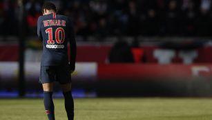 Neymar durante un juego del PSG