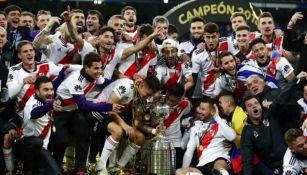 River Plate festeja obtención de Copa Libertadores contra Boca