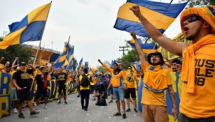 Afición de Tigres previo a un encuentro ante Rayados