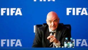 Infantino durante un congreso de la FIFA