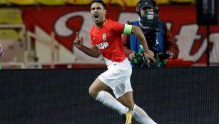 Falcao en festejo de gol con el Mónaco