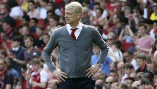 Wenger durante un encuentro del Arsenal