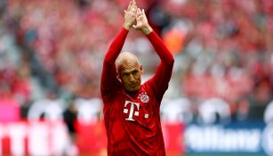 Robben durante su último partido con el Bayern Munich