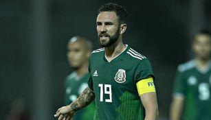 Miguel Layún, en un juego con la Selección Mexicana