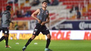 Luis Hernández previo a un partido con Necaxa