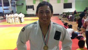Nabos Castillo durante una competencia de Judo