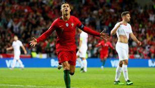 Cristiano Ronaldo celebra una anotación contra Suiza