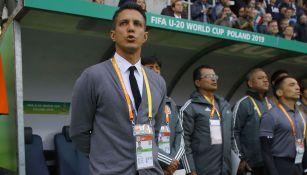 Diego Ramírez en un partido con la Selección Mexicana