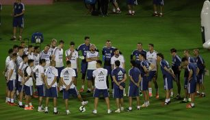 Selección de Argentina, durante una práctica