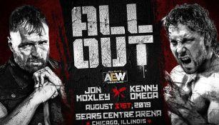 Anuncio de AEW de la lucha entre Omega y Moxley