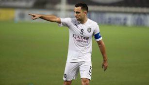 Xavi durante un partido del Al-Sadd