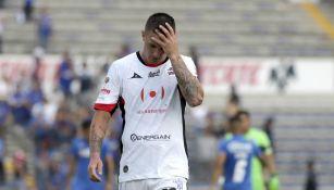 Leo Ramos se lamentó en un juego de los 'extintos' Lobos BUAP