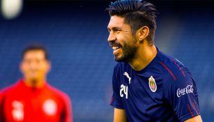 Oribe Peralta en un partido con el Rebaño