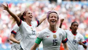 Rapinoe, en festejo de gol contra Holanda