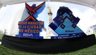 Presentación de playera y medalla del Medio Maratón de la CDMX