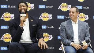 Anthony Davis, durante su presentación con Los Angeles Lakers