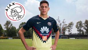 Edson Álvaréz posa para RÉCORD con su playera de América