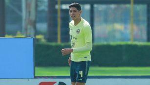 Edson Álvarez, en su último entrenamiento con el América