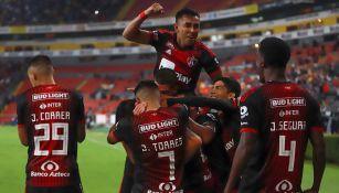 El festejo del gol de Edson Rivera