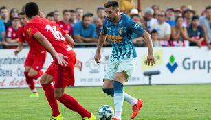 Héctor Herrera en sus primeros minutos con el Atlético de Madrid