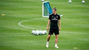 Bale, en un entrenamiento del Real Madrid