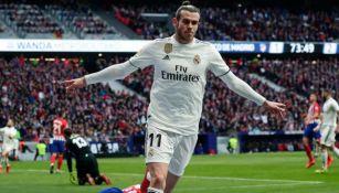 Gareth Bale festeja un gol con el Real Madrid