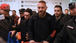 Daniele de Rossi al llegar a Argentina