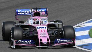 Sergio Pérez, en prácticas para el GP de Alemania