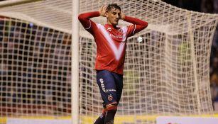 Peñalba celebra un gol con con Veracruz