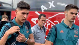 Edson Álvarez realiza viaje con el Ajax
