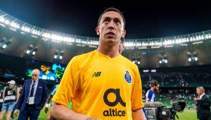 Agustín Marchesín, previo al arranque del juego contra Krasnodar