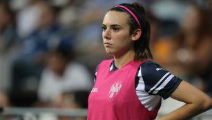Pamela Verdirame previo a un partido contra Tigres Femenil