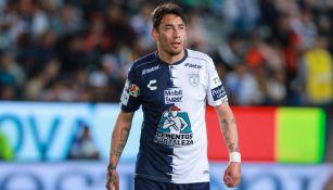 Rubens Sambueza durante un partido contra Morelia