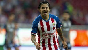 Chofis López celebra su anotación contra Atlético San Luis