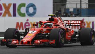 Kimi Räikkönen durante el Gran Premio de México
