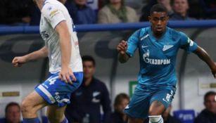 Malcom, en su partido con el Zenit