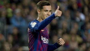 Coutinho, en un partido del Barcelona