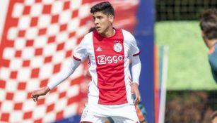 Edson, en un partido del Ajax