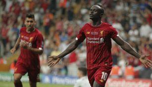 Sadio Mane celebra uno de sus goles al Chelsea