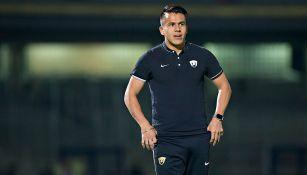 Marcelo Alatorre previo a un partido con Pumas