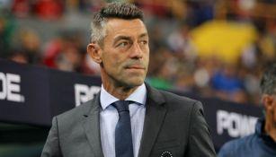 Pedro Caixinha, previo a un partido de Cruz Azul