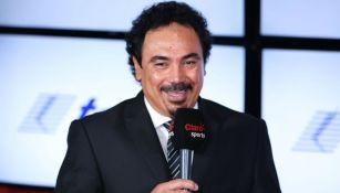 Hugo Sánchez, durante un evento