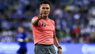 Fernando Guerrero durante un partido
