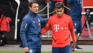Kovac y Coutinho, en una sesión del Bayern Munich