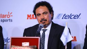 Hugo Sánchez durante los premios Marca