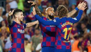 Barcelona celebra triunfo sobre Betis