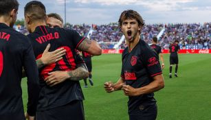 Joao Félix celebra gol del Atlético de Madrid