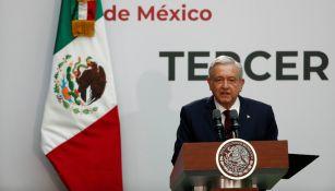 Andrés Manuel López Obrador durante el Informe de Gobierno